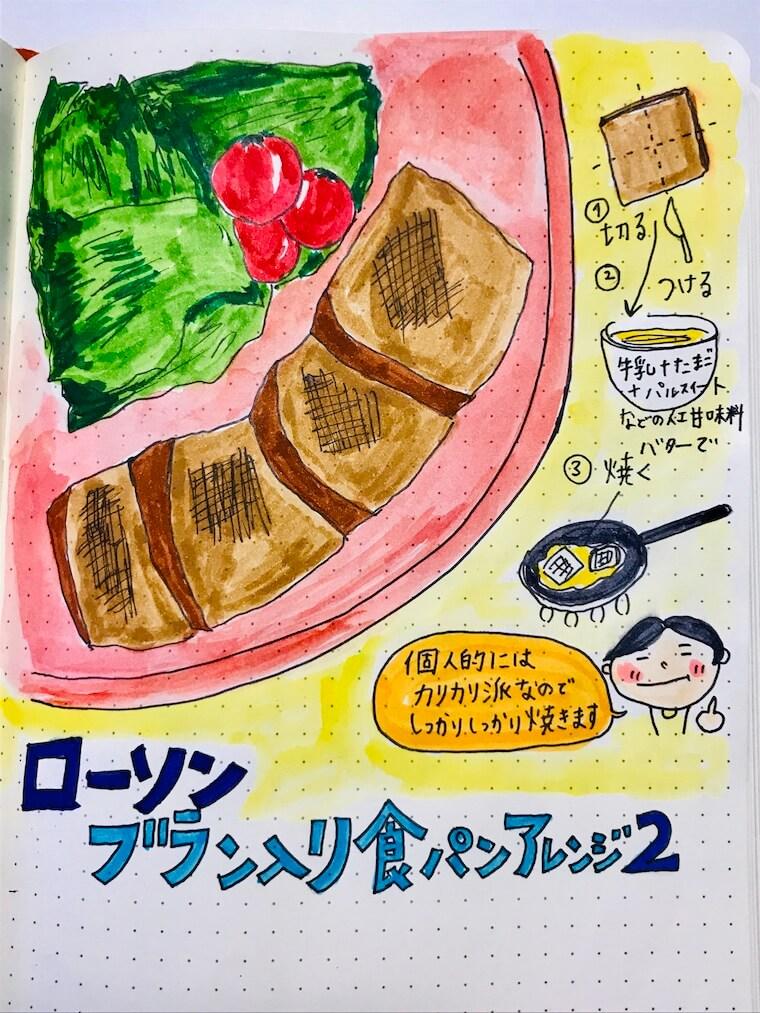ローソン ブラン入り食パン アレンジ